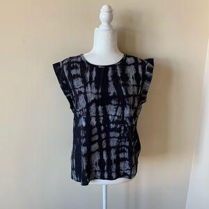REVOLVE Pam & Gela 100% silk keyhole blouse #4501